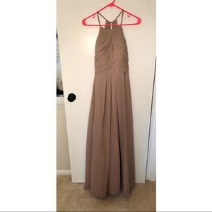 Azazie Ginger Bridesmaid's Dress in Taupe